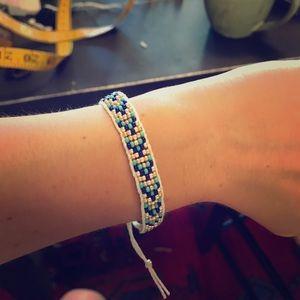 Handmade cord bead bracelet
